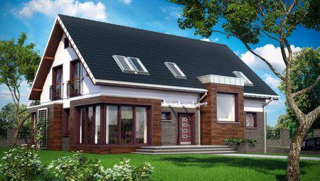Уютный особняк с площадью более 300 m² с уютным патио и эркерами