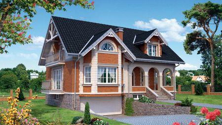 Архитектурный проект симпатичного загородного дома для большой семьи
