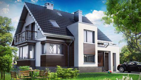 Проект дома с дизайном в стиле лофт