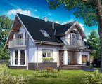 Архитектурный проект красивого особняка с элегантным дизайном