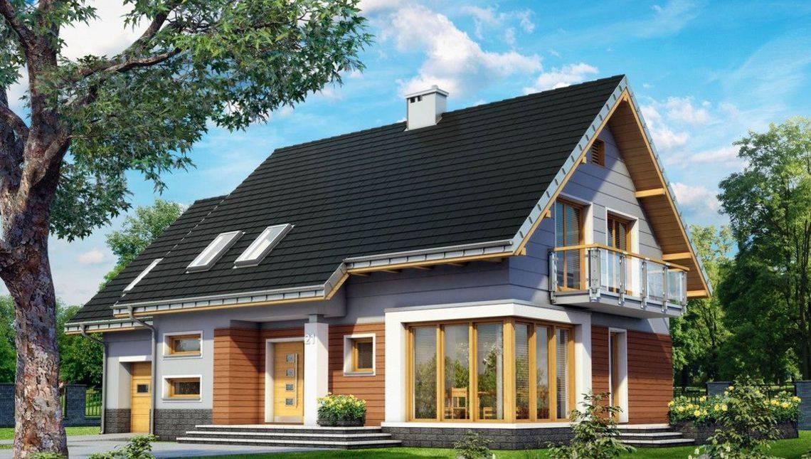 Архитектурный проект оригинального коттеджа с площадью 200 m²