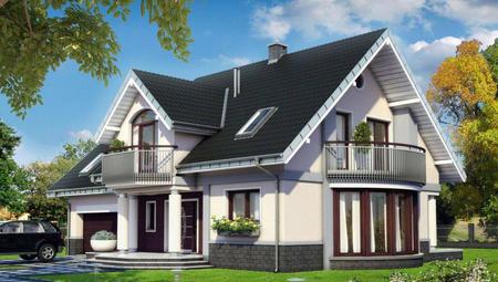 Стильный загородный особняк с шестью светлыми комнатами и большой кухней