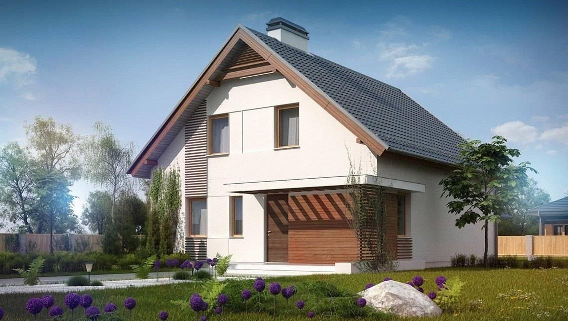 Проект классического дома с мансардой и стильным балконом
