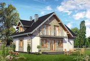 Уютный двухэтажный коттедж с балконом и террасой