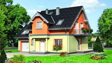 Проект компактного коттеджа 170 m²