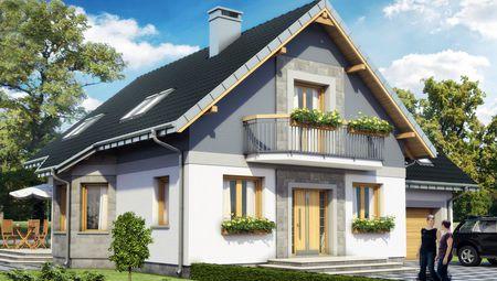 Небольшая усадьба с мансардой 11 на 9 площадью более 200 m²
