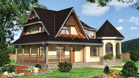 Проект небольшого дома с интересным дизайнерским решением