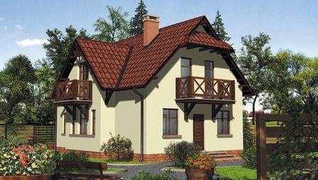 Эксклюзивный двухэтажный коттедж с изящным экстерьером