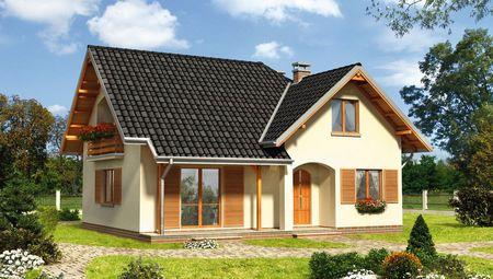 Красивый жилой дом с выделенной кухней и столовой в отдельные помещения