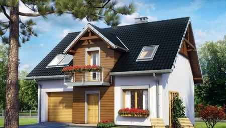 План удобного жилого дома с цокольным этажом