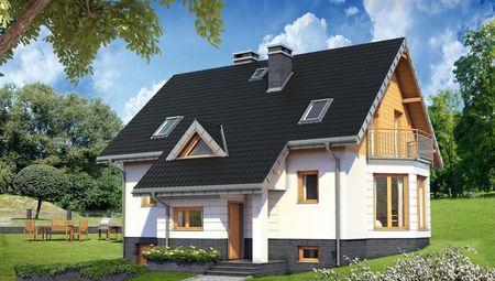 Проект уютного дома с цокольным этажом