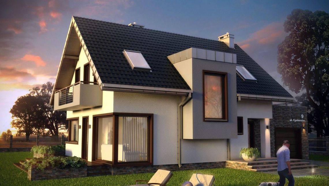 Проект дома в традиционном стиле с элементами модерна