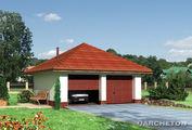 Архитектурный проект двухмашинного гаража