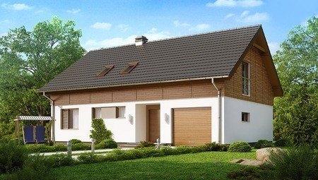 Традиционный мансардный дом вытянутой формы
