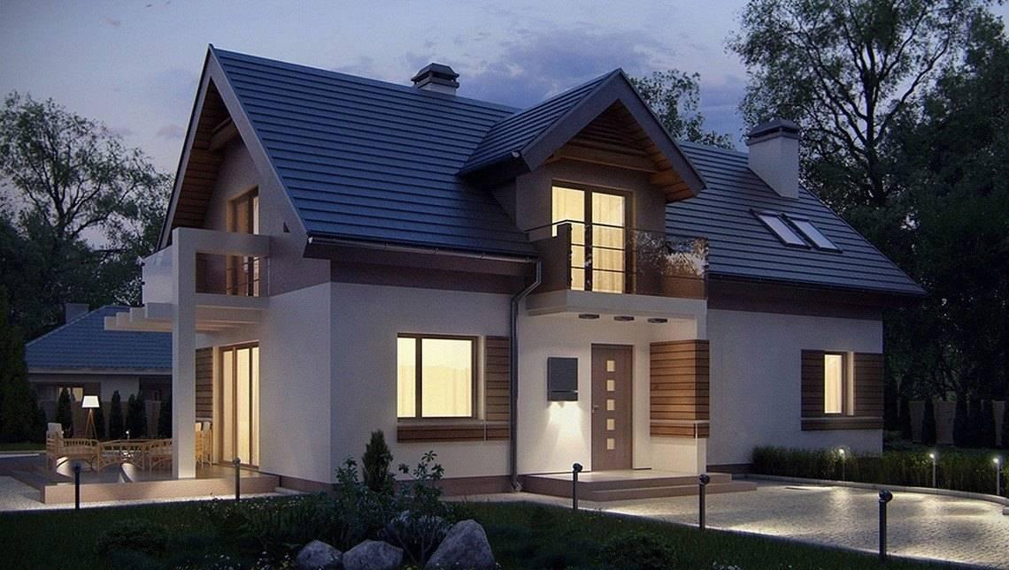 Проект мансардного дома с нестандартным фасадом