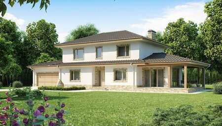 Проект усадьбы в роскошном классическом стиле