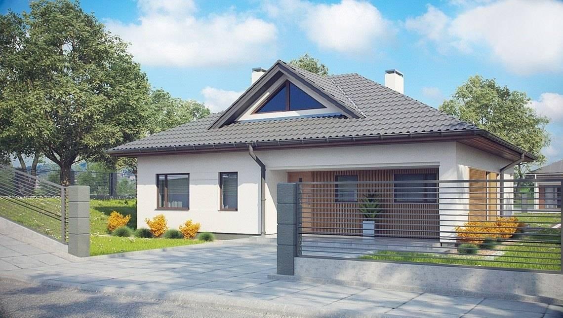 Проект дома с четырёхскатной крышей