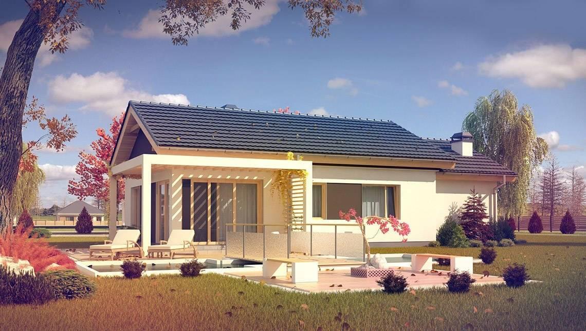 Проект комфортабельного классического одноэтажного коттеджа с гаражом