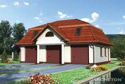 Проект гаража на 3 парковочных места с чердаком