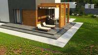 Проект небольшого двухэтажного дома с плоской кровлей