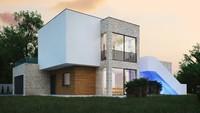 Проект небольшого дома для наклонного участка