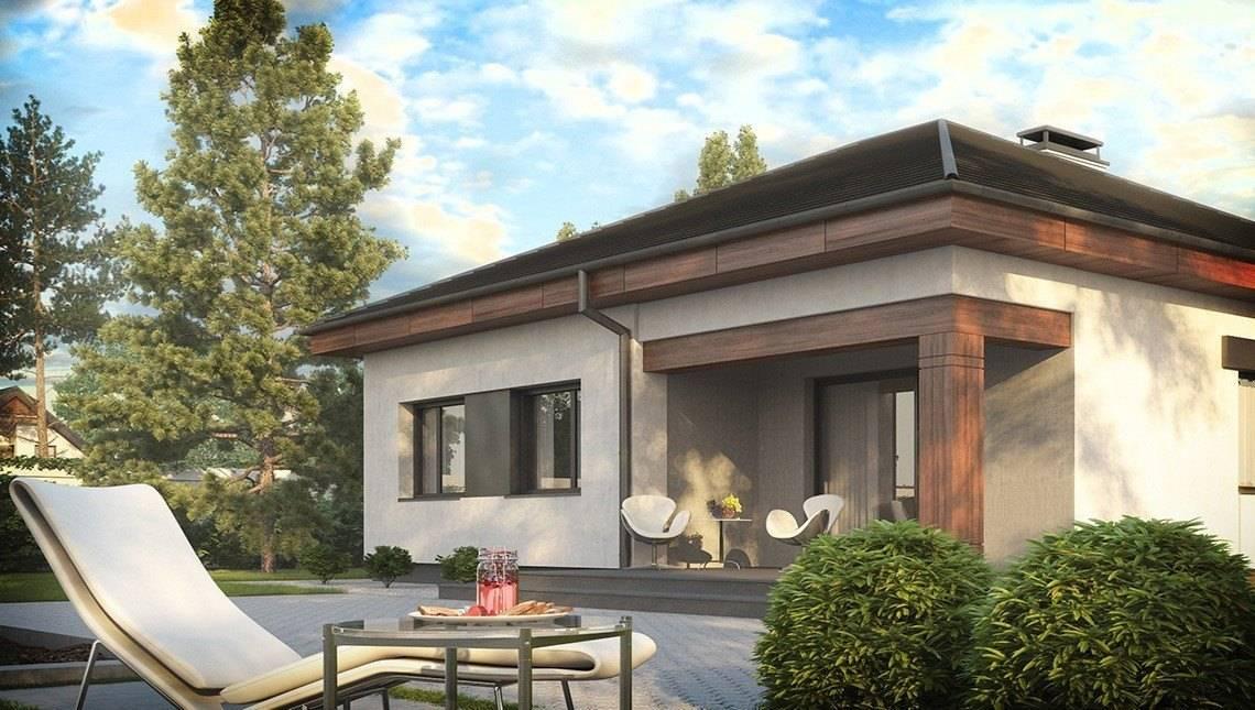 Проект оригинального одноэтажного классического дома