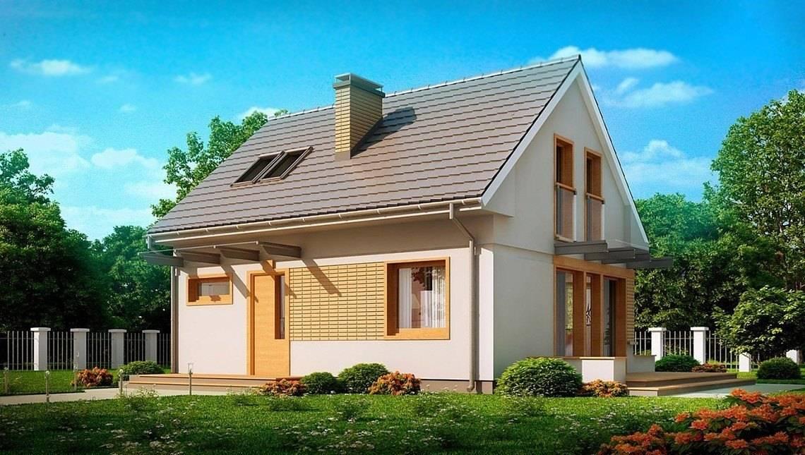 Проект дома с мансардой 7 на 9 в традиционном стиле
