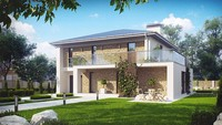 Строительный проект двухэтажного дома