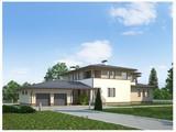 Проект роскошного двухэтажного особняка 530 m²