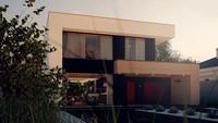 Проект загородного двухэтажного дома с плоской кровлей