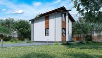 Небольшой двухэтажный коттедж до 80 m²