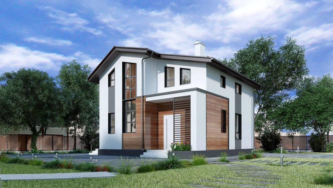 Уютный двухэтажный коттедж с тремя спальнями