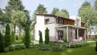 Стильный дом с просторной верандой