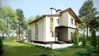 Проект особняка площадью 200 м2, выполненного в классическом стиле