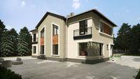 Проект жилого дома на три квартиры с интересной планировкой