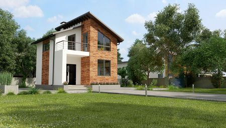 Проект современного двухэтажного дома для небольшой семьи