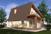 Проект для строительства мансардного дома с неординарной крышей