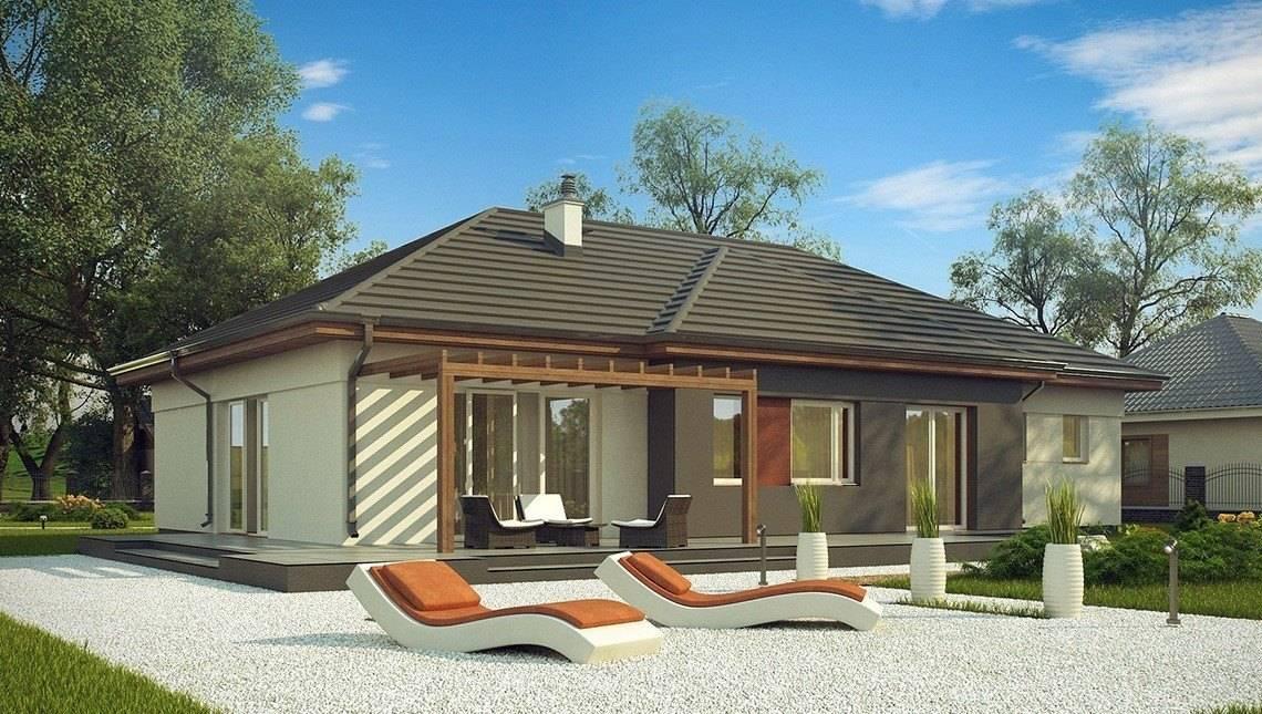 Классический одноэтажный загородный дом
