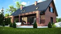 Компактный мансардный дом на две семьи