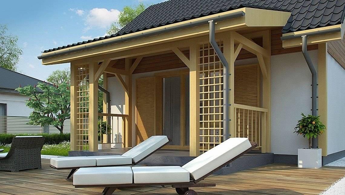 Проект летнего коттеджа 35 m²