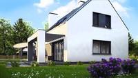 Проект современного стильного дома с гаражом