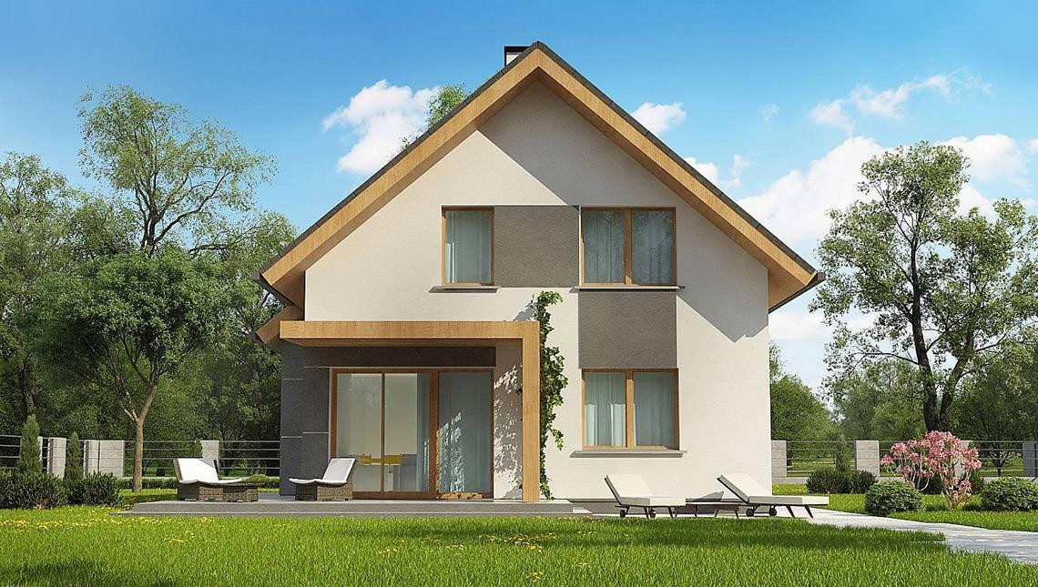 Проект уютного дома с гостевой спальней на первом этаже