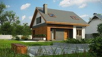 Стильный проект современного дома с кирпичным фасадом