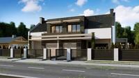 Проект дома с элементами кубизма в архитектуре