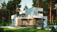 Проект модернового коттеджа с площадью до 150 m²
