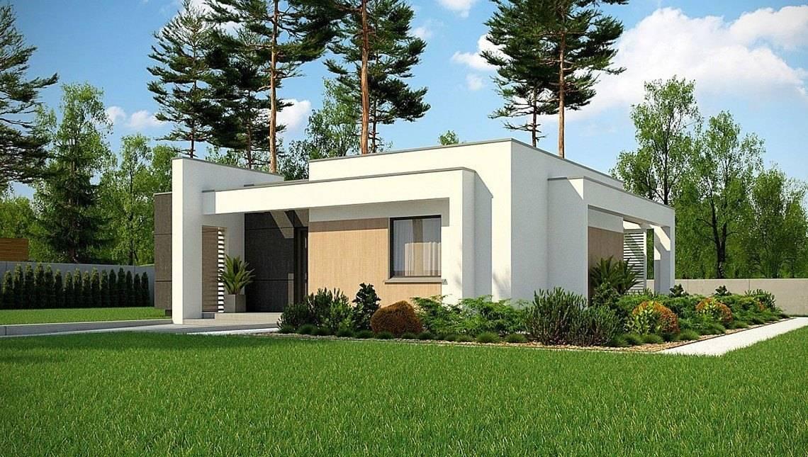Проект небольшого одноэтажного дома с плоской кровлей