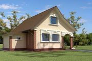 Проект для строительства небольшого двухэтажного домика 70 m²