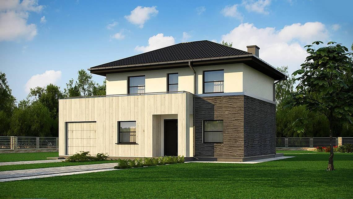 Проект небольшого компактного двухэтажного домика