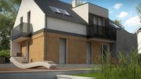 Двухэтажный дом в классическом стиле с элементами кубизма