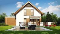 Проект двухэтажного коттеджа с гаражом на две машины площадью более 150 m²